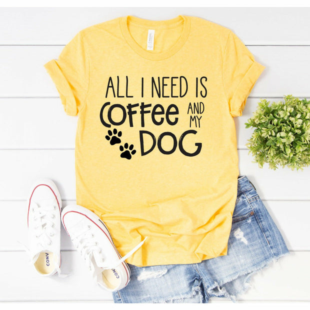coffee & my Dog tee