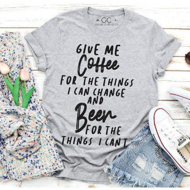 Give me coffee Give me Beer tee
