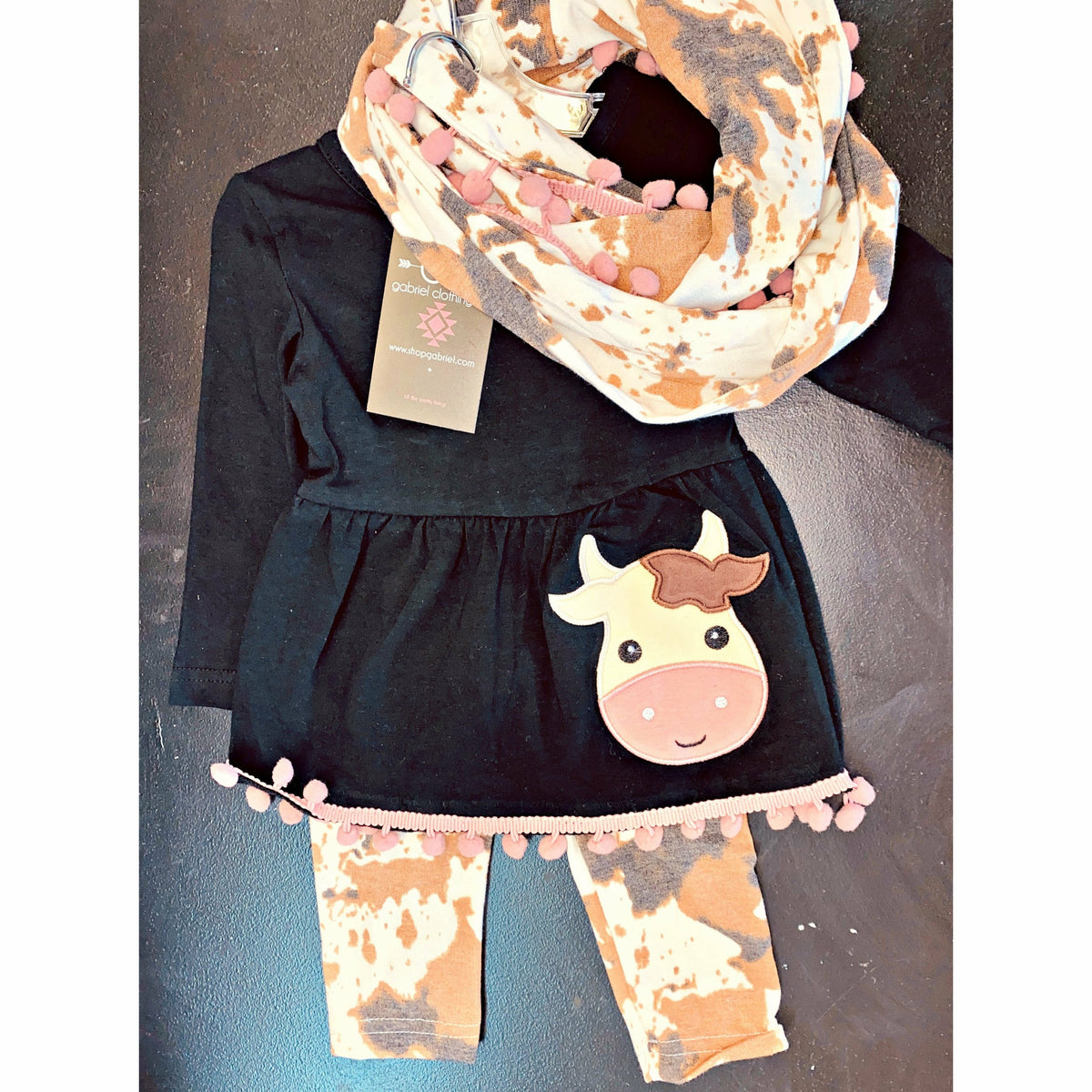 Cow Print 3 Piece Kids Set