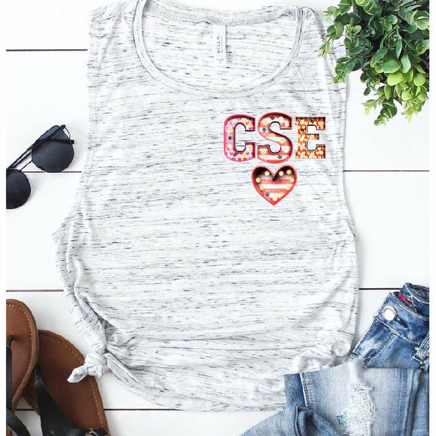 Custom Monogram Tank/V-neck or Tee