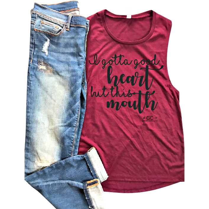 Good Heart Tank Top - Gabriel Clothing Company