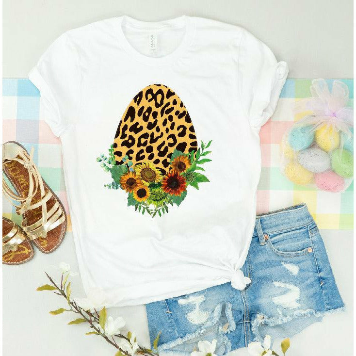 Leopard Sunflower Easter Tee