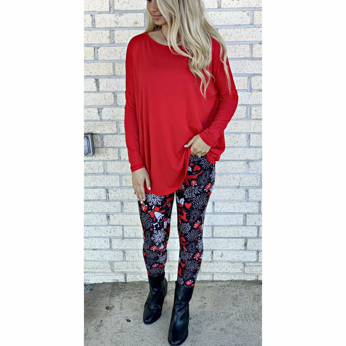 Red Piko Type Tunic