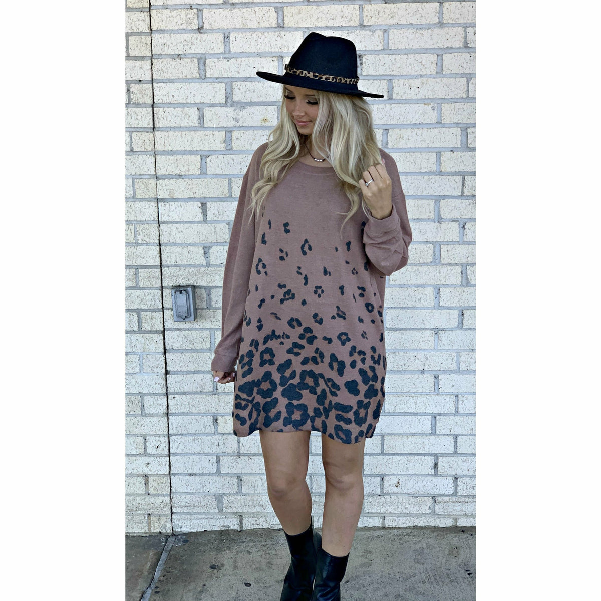 Darci Ombre Leopard Tunic/Dress