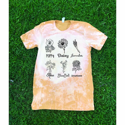 Flowery Mix Distressed Tee