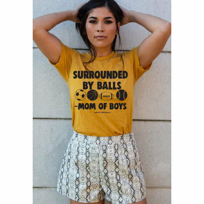 Surrounded by Balls - Mom of boys tee