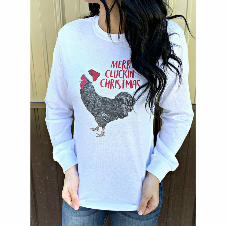 Merry Cluckin' Christmas Long sleeve tee
