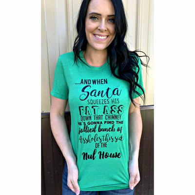 Santa Squeezes T-shirt or long sleeve