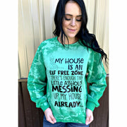 Elf Free Zone Distressed Sweatshirt
