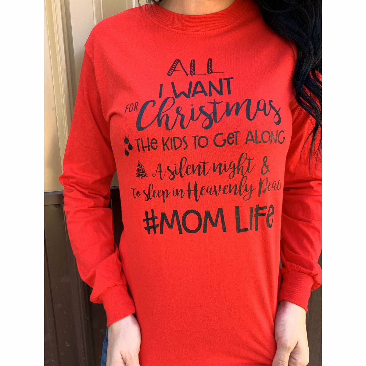 Silent Night and Heavenly Peace Mom life Tee