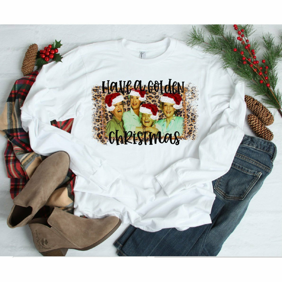 Have a Golden Christmas Tee or long sleeve