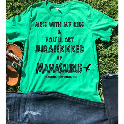Mess with my Kids & You'll get Jurasskicked tee