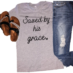 Saved by his Grace Tee - Gabriel Clothing Company
