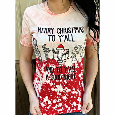 Merry Christmas Distressed Cactus T-shirt