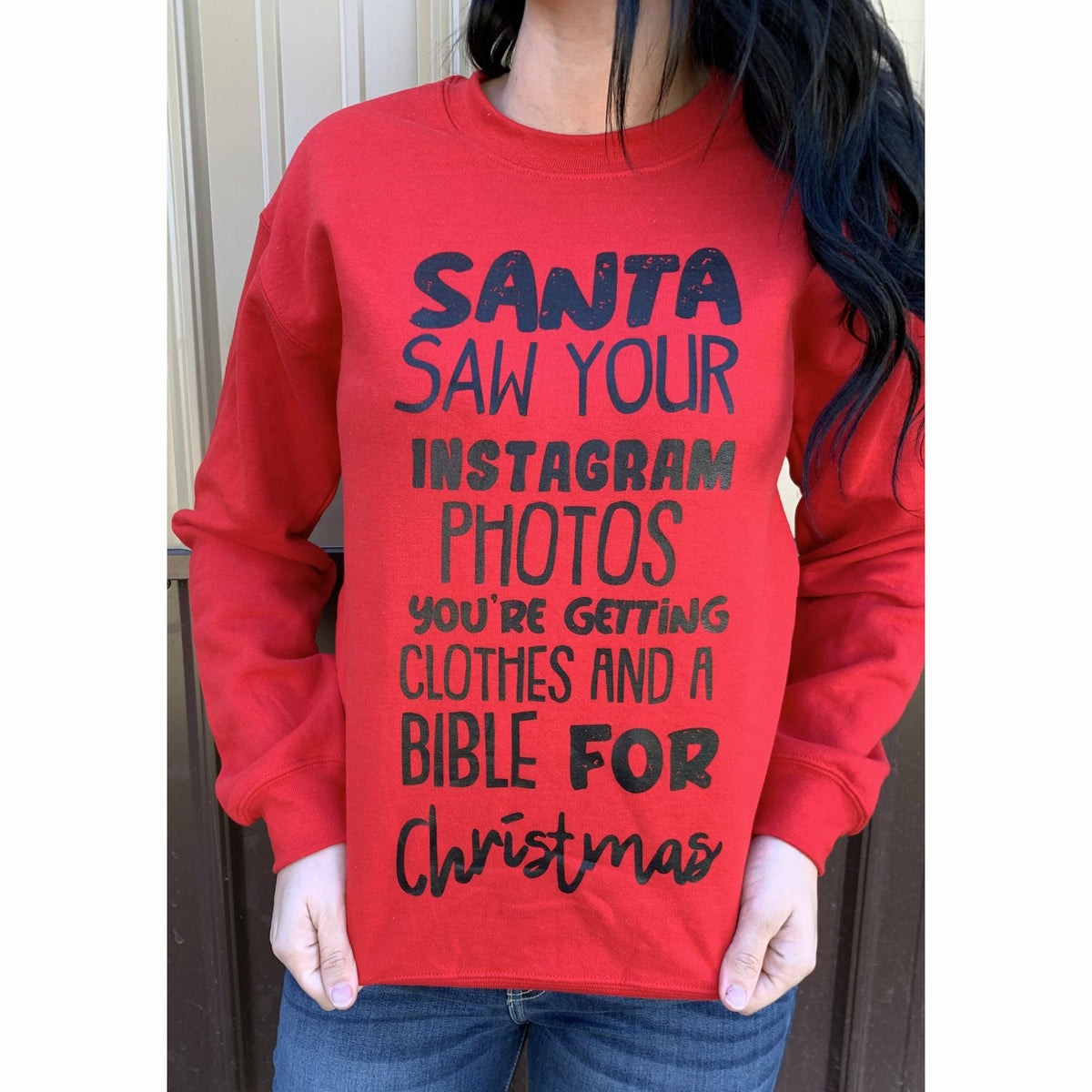 Santa Saw your instagram photos you're getting clothes and a Bible for Christmas tee