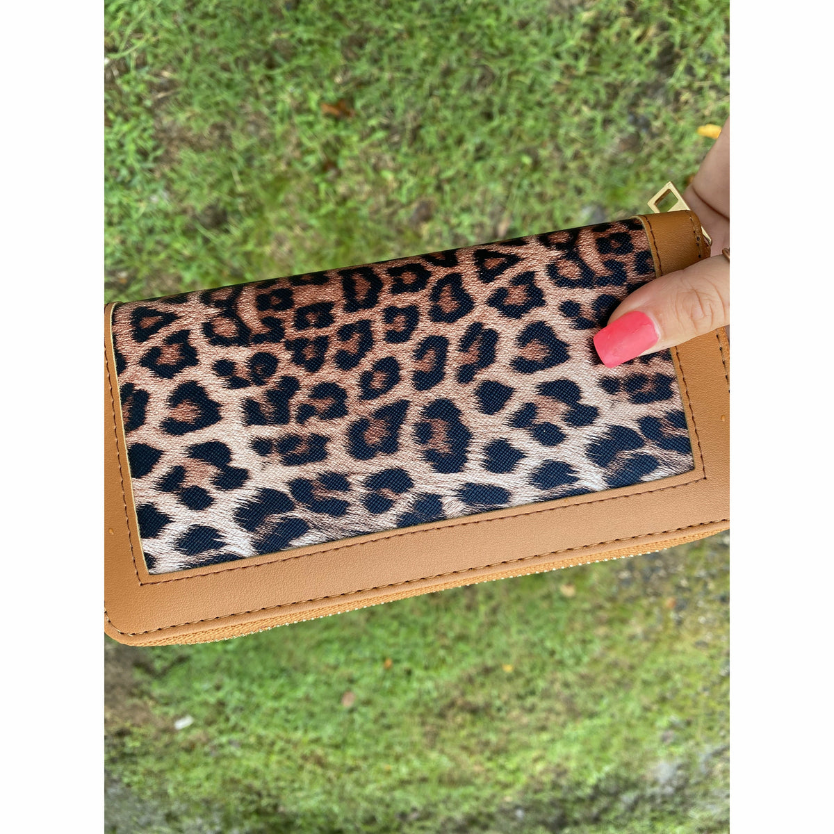 Tan Leopard Wallet