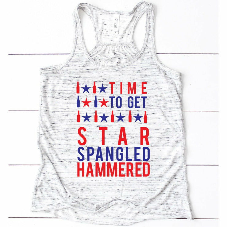 Star spangled hammered tee or tank