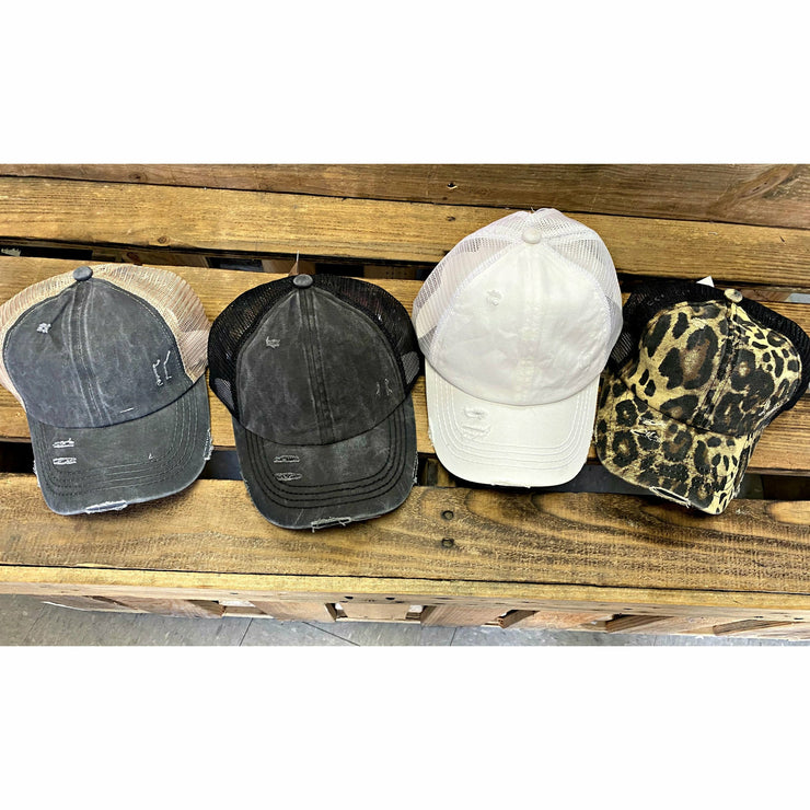 Criss Cross CC Pony Cap ( 4 options)