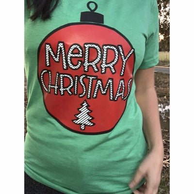 Green Christmas Ornament t-shirt