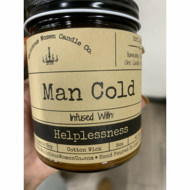 Man cold candle