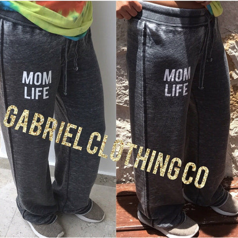 Mom life pants charcoal (soft)