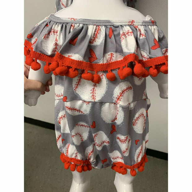 Baseball infant onesie