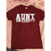 Aunt University™ Tee (white Ink) - Gabriel Clothing Company