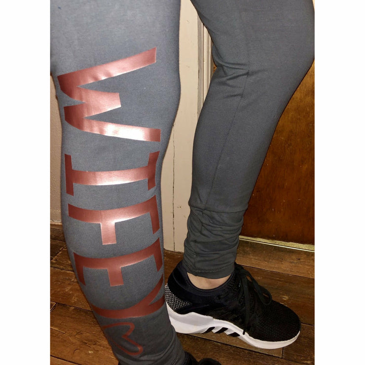 Wifey leggings (5 colors) - Gabriel Clothing Company
