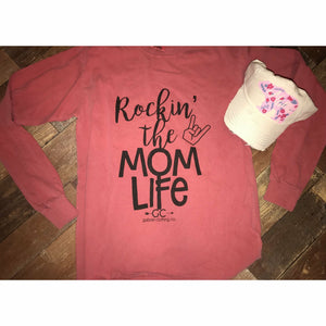Rockin' the Mom life long sleeve - Gabriel Clothing Company