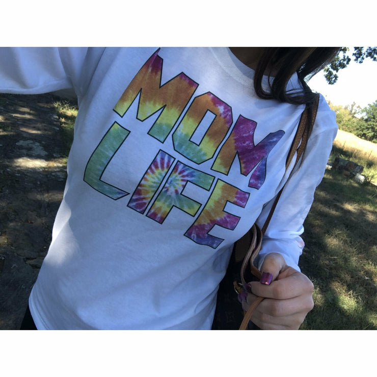Tie dye Mom Life / long sleeve