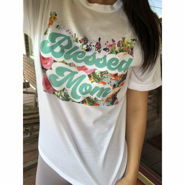 Blessed Mom tee - Gabriel Clothing Company