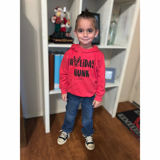 Holiday hunk hoodie kids/toddler