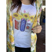 Sunflower Beer Tee or Tank