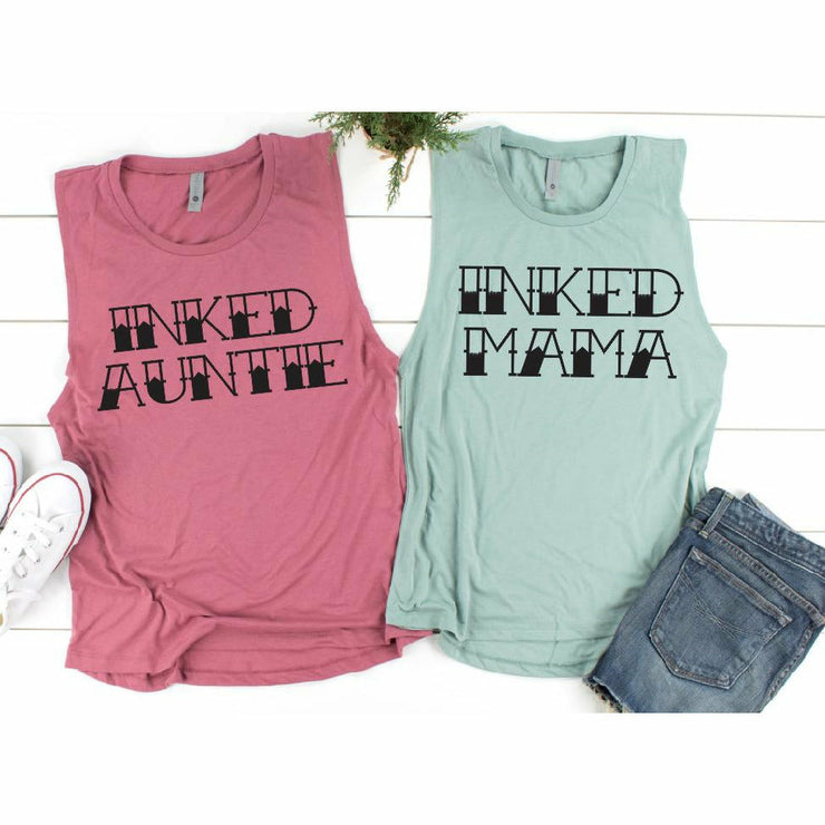 Inked Auntie or Mama Tee or Tank