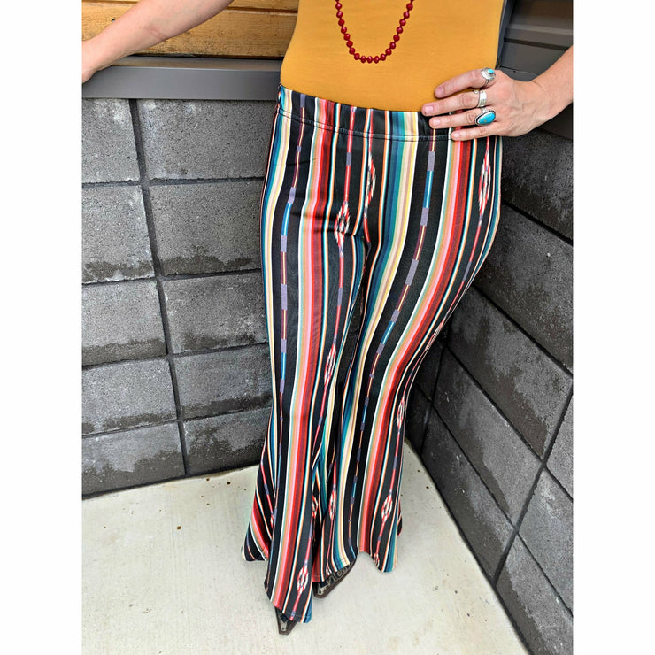 Wild West Serape Bell Bottoms