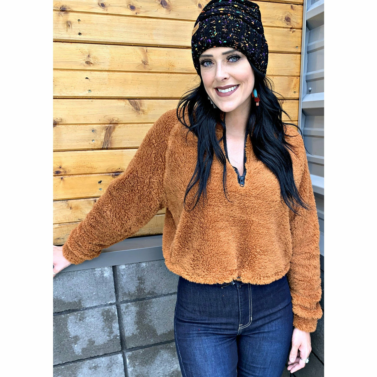 Burnt orange Crop sweatshirt
