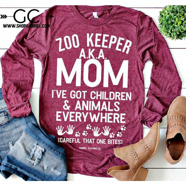 ZOO KEEPER Aka Mom I've got Kids Long Sleeve