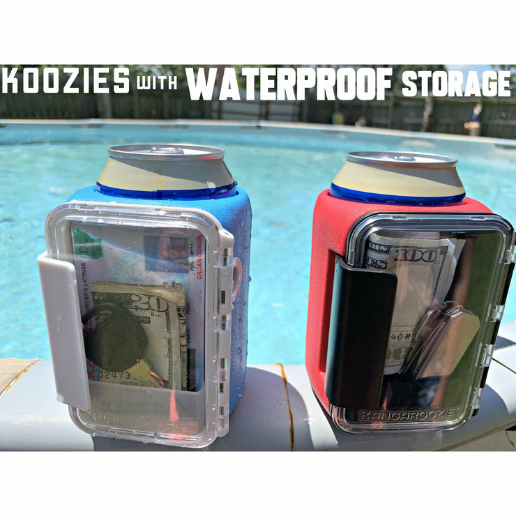 Red Kangaroozie with water-resistant storage
