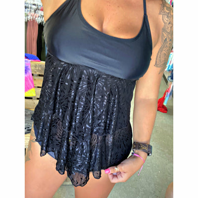 Black Lace 2 piece swim