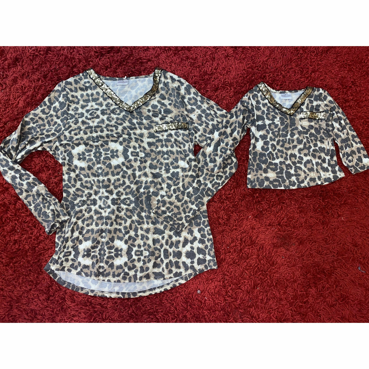 Leopard Sequin Cheetah top