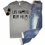 Beer Helps tee - Gabriel Clothing Company