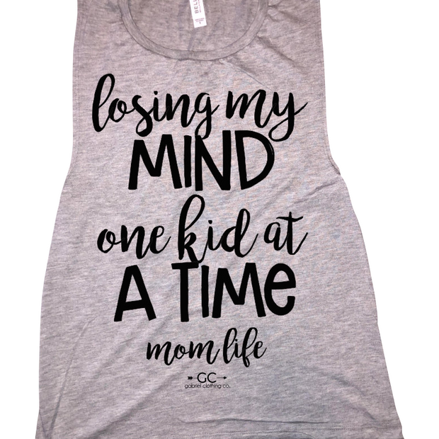 Losing my mind one kid at a time Tank top - Gabriel Clothing Company