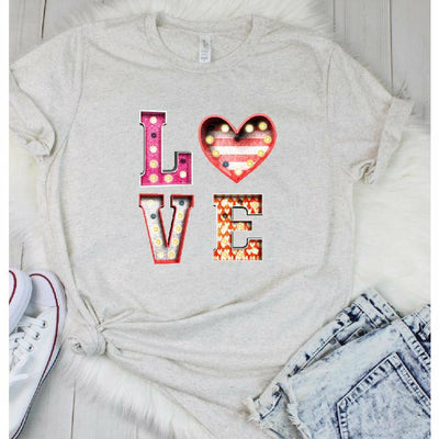 LOVE Heart Tee/Tank/V-neck