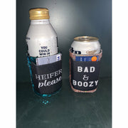 Sequin koozie with card holder (3 options)