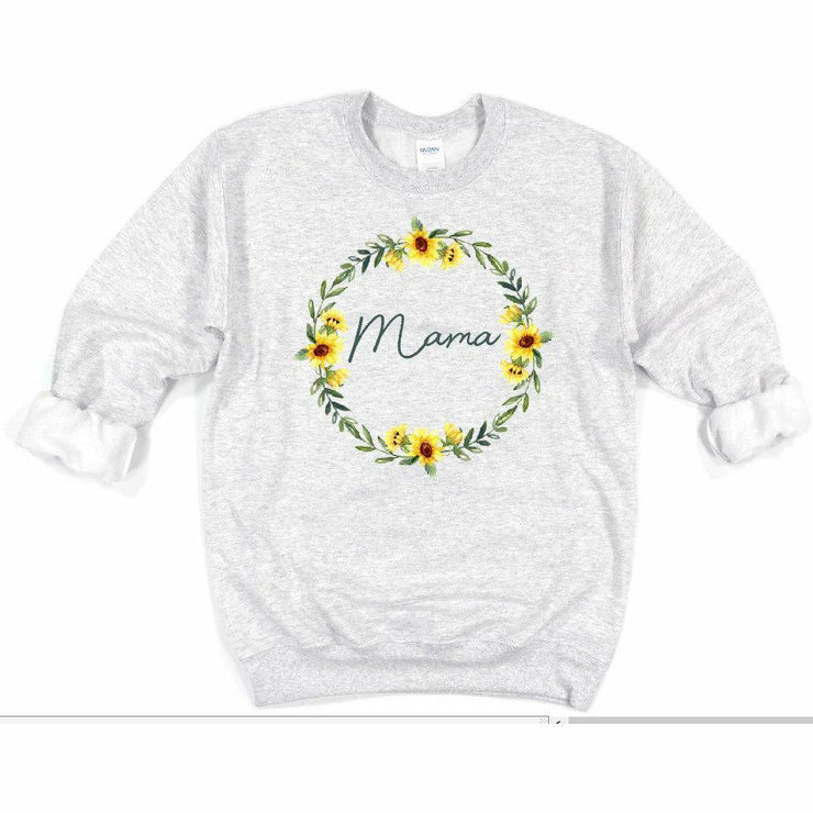 Mama Sunflower Ring Sweat Shirt