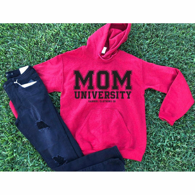 Mom University™ Hoodie (Black Ink)