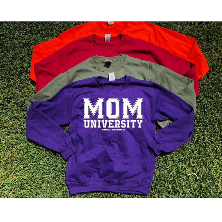 Mom University™ Sweatshirt (white ink)