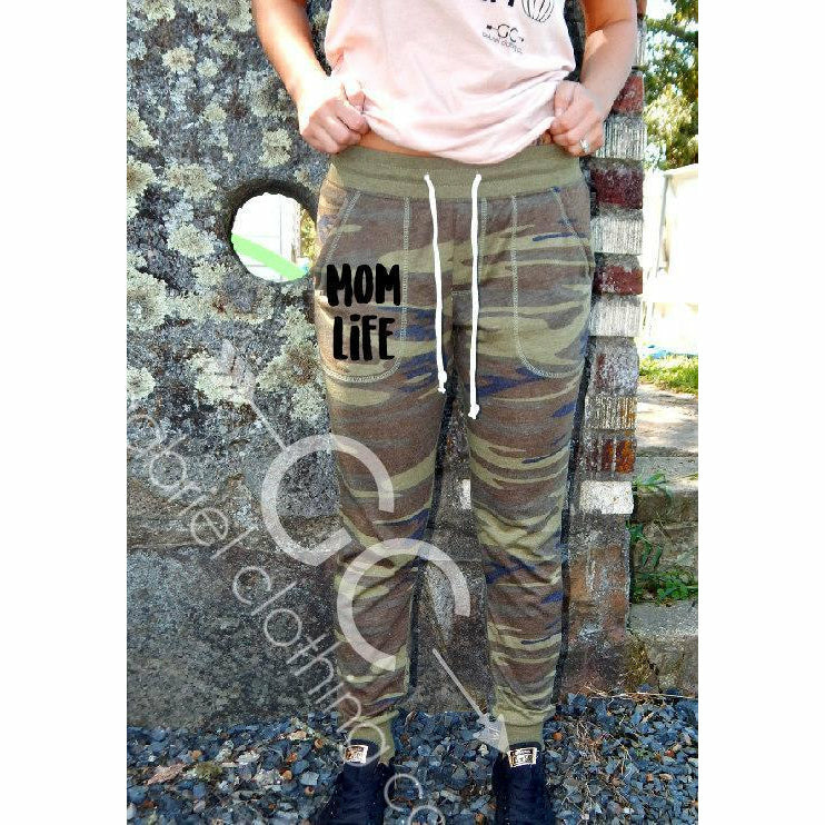 Camo Mom Life Pants (3 colors) - Gabriel Clothing Company