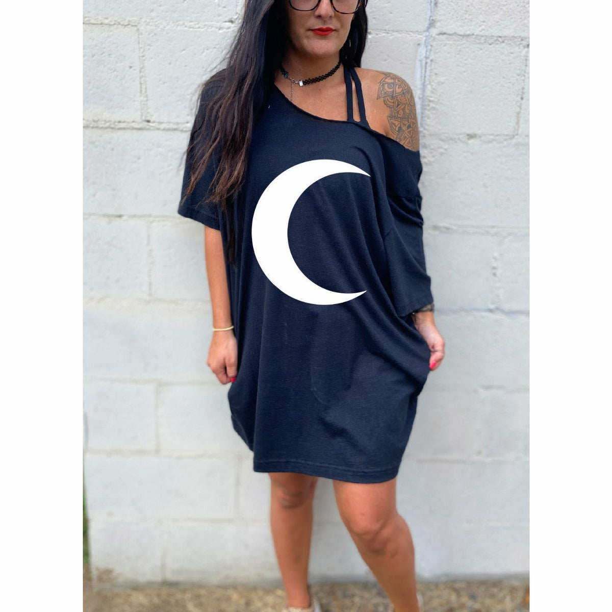 Moon T-shirt Dress