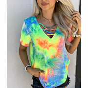 Tie dye Criss Cross boutique (limited)